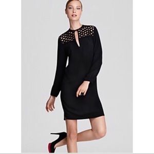 Diane Von Furstenberg Black Bernadette Dress sz12